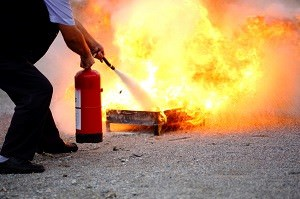 Hot Fire Extinguisher Safety Training
